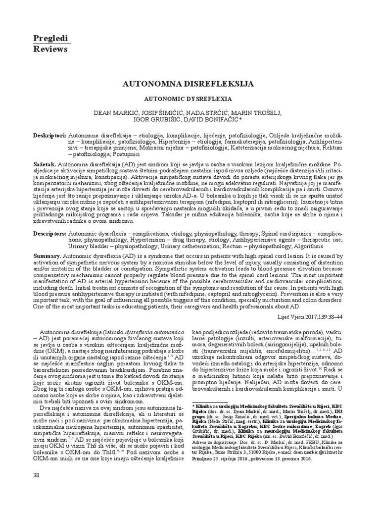 Autonomna disrefleksija   Kvantum-tim Medicinska Trgovina
