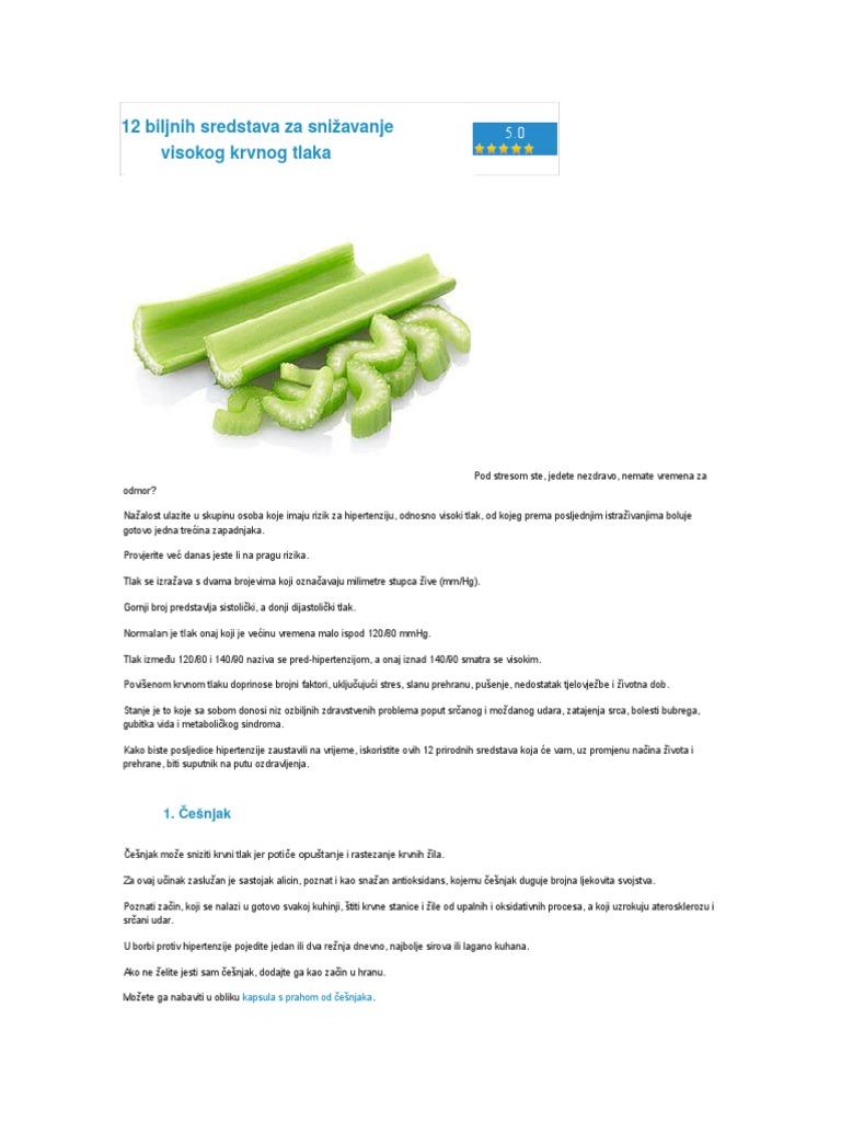 liječenje hipertenzije prehrane)