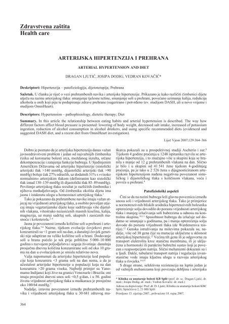 Hipertenzija - prehrana po tegobama theturninggate.com