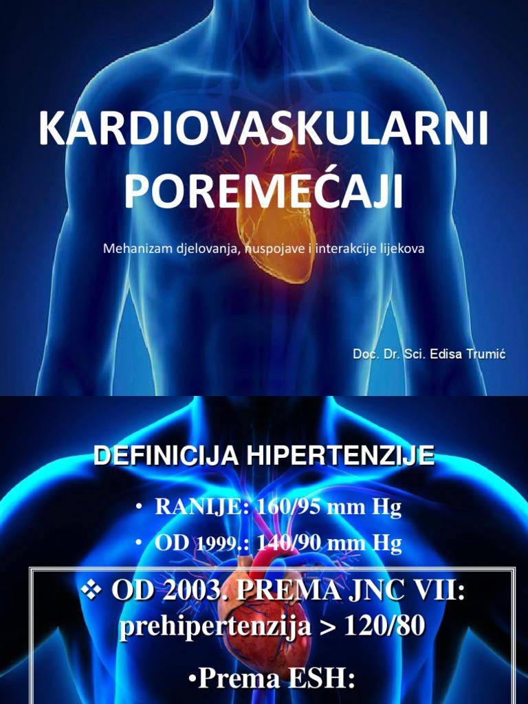 hipertenzija, angina, zatajenje srca, bolesti koronarne arterije)
