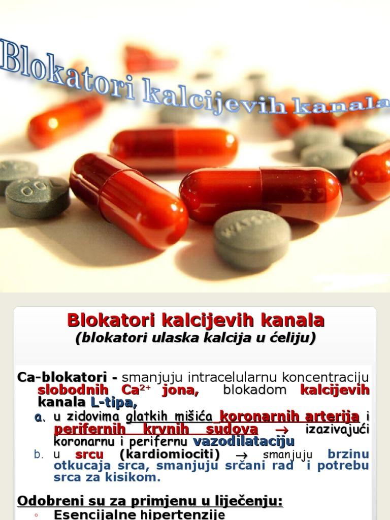 blokator kalcijevih kanala za hipertenziju)