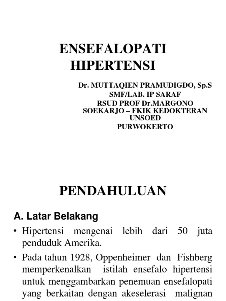 hipertenzija encefalopatija)