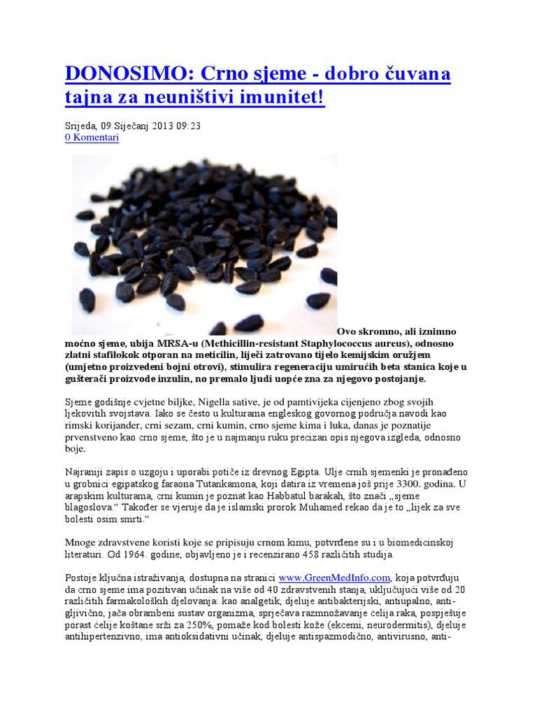liječenje hipertenzije crnog kima u hipertenzija u ljudi meteodependent