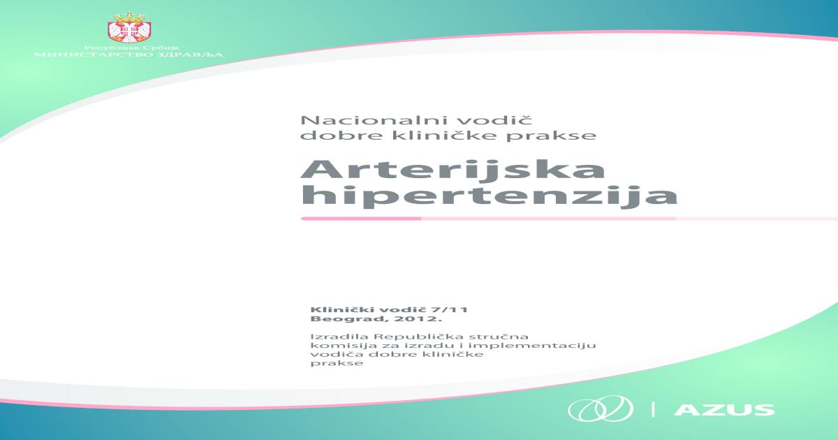 hipertenzija, dijabetes melitus liječenje