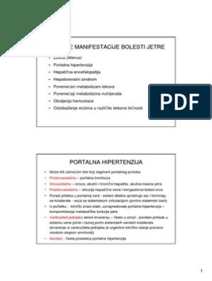 hipertenzije, bolesti jetre)