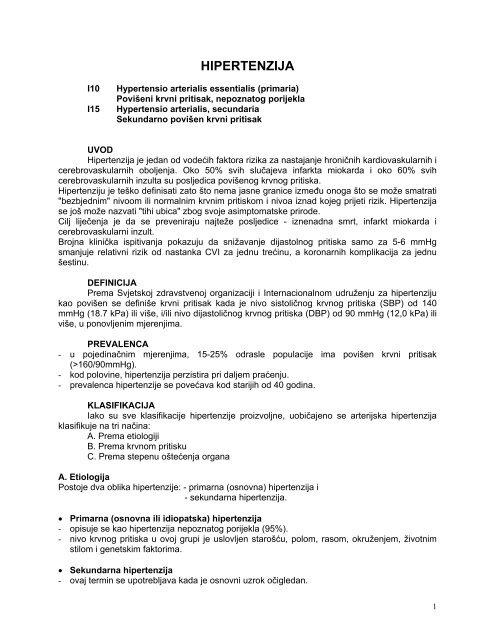 ciljevi i ciljevi hipertenzije)