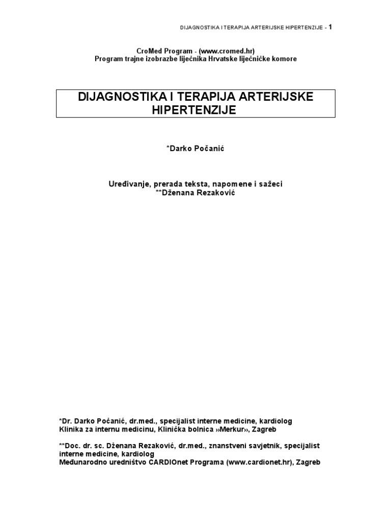 liječenje hipertenzije i koronarne srčane bolesti standardu)