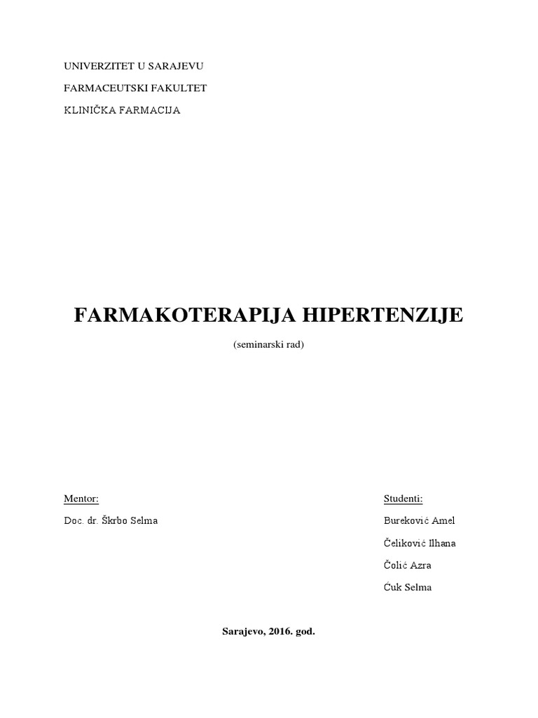 predavanje za hipertenzije bolesnika