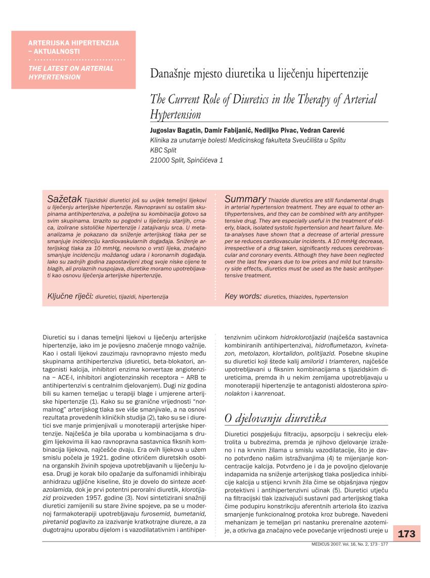 Liječenje hipertenzije u dijabetes melitusa tipa 2: pilule, indikacije - Analize February
