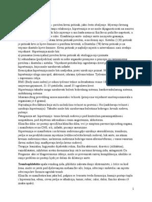 laboratorijske promjene u hipertenzije)