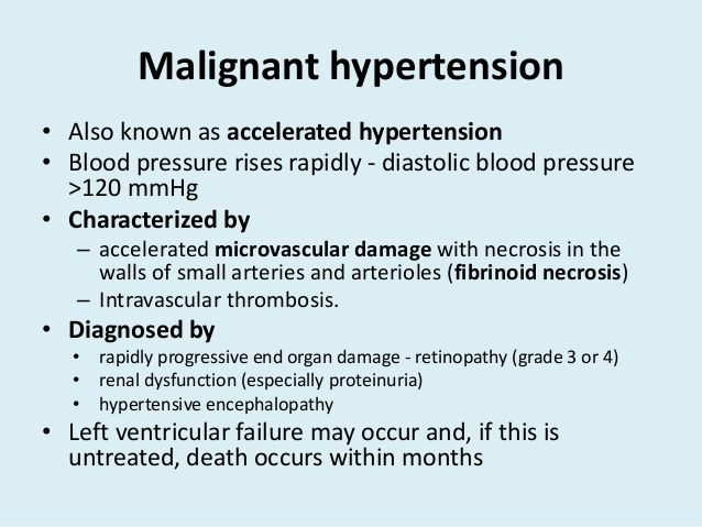 uzrok maligna hipertenzija)