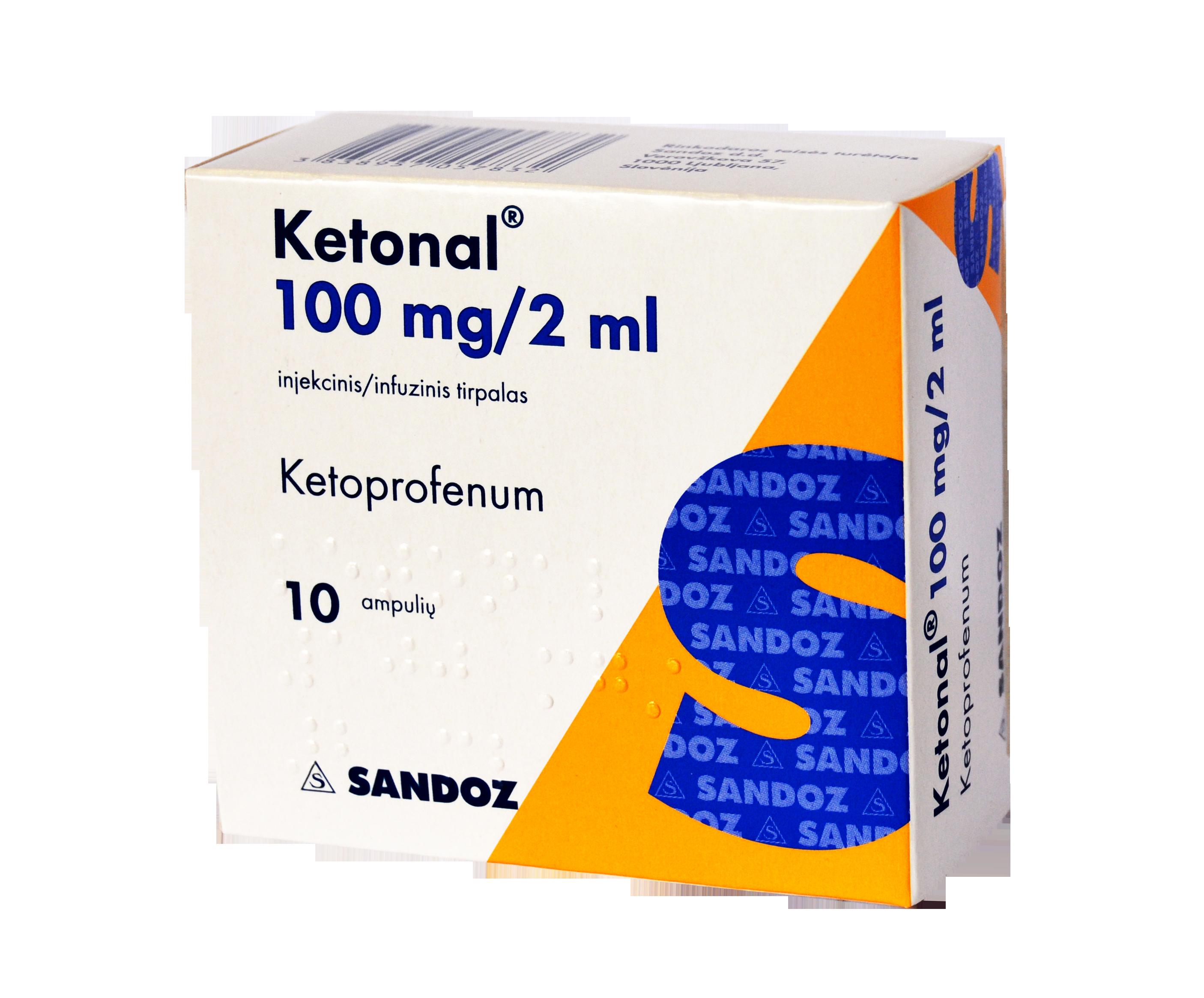 Ketonal mg/2 ml otopina za injekciju/infuziju — Mediately Baza Lijekova