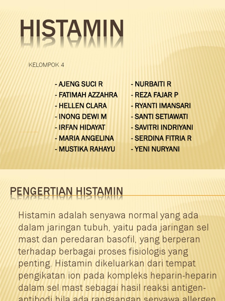 histamin i hipertenzija)
