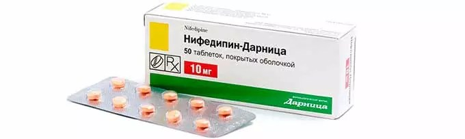 hipertenzija tablete nifedipin)