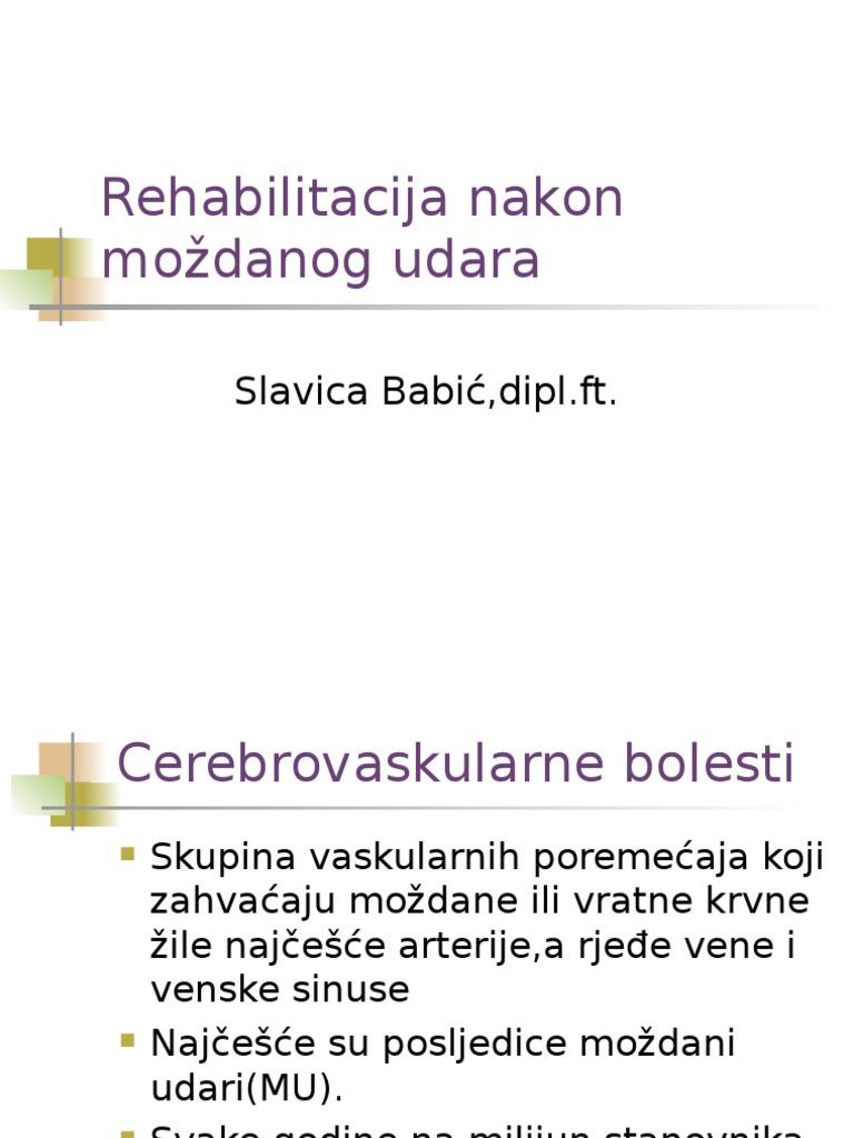 posljedica moždanog udara i hipertenzije)