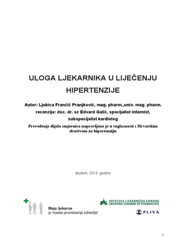 preporuke kardiolog i hipertenzija)