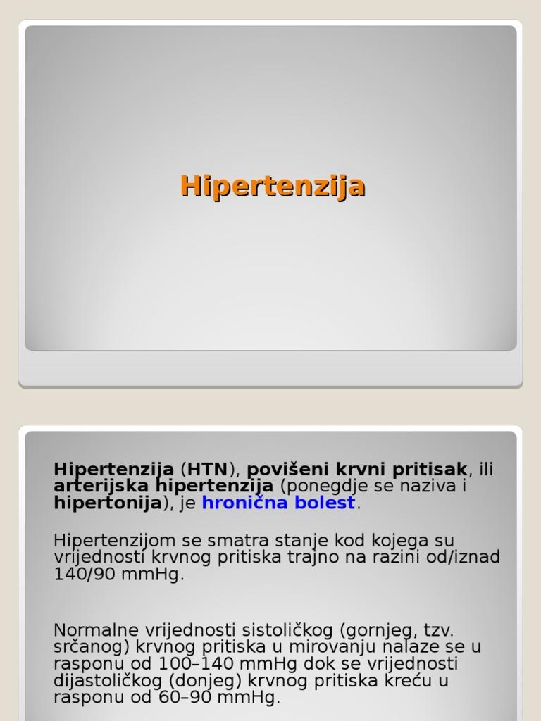 razvoj bolesti hipertenzije)