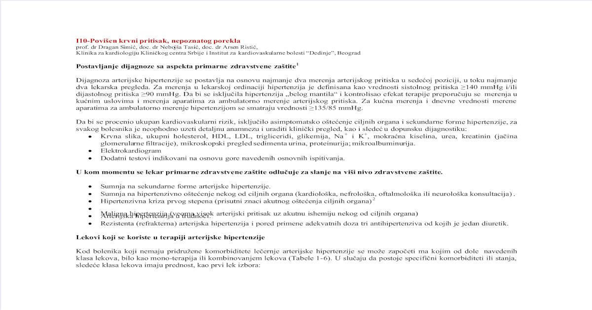testovi za hipertenziju sumnja)