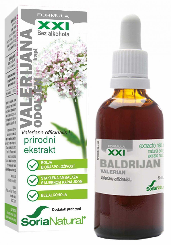 Valerian Root Extract (Valerijana) 50 mg x 60 kapsula - Solaray