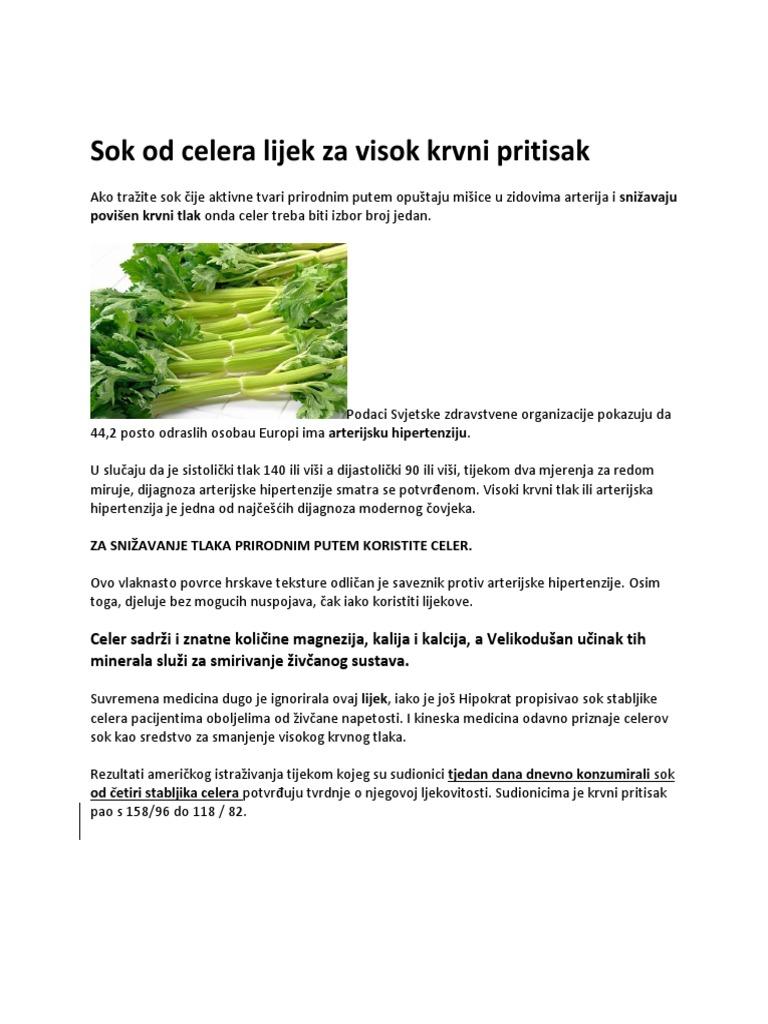 hipertenzija i celer sok)
