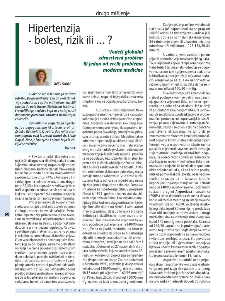 hipertenzije, suhi kašalj europskog kardiološkog društva hipertenzije