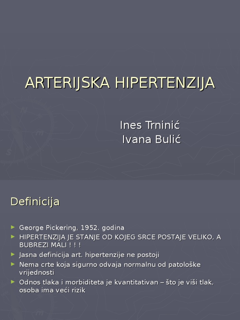 mehanizam pojavom hipertenzije)