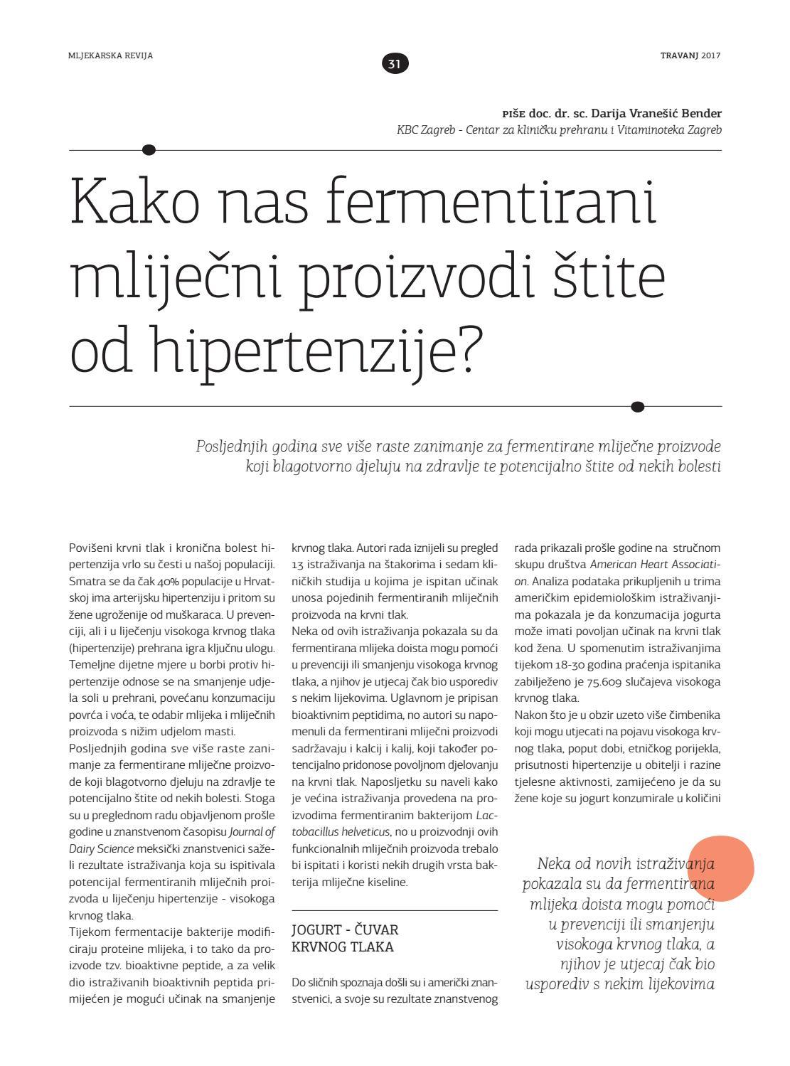 sa peptidom u liječenju hipertenzije)