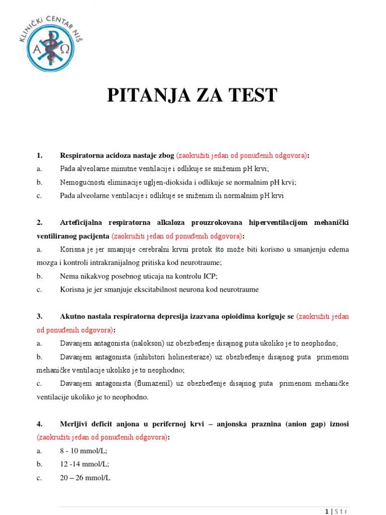 test pitanja za hipertenziju