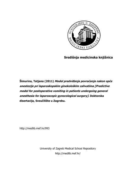 MSD priručnik dijagnostike i terapije: Preoperativna obrada