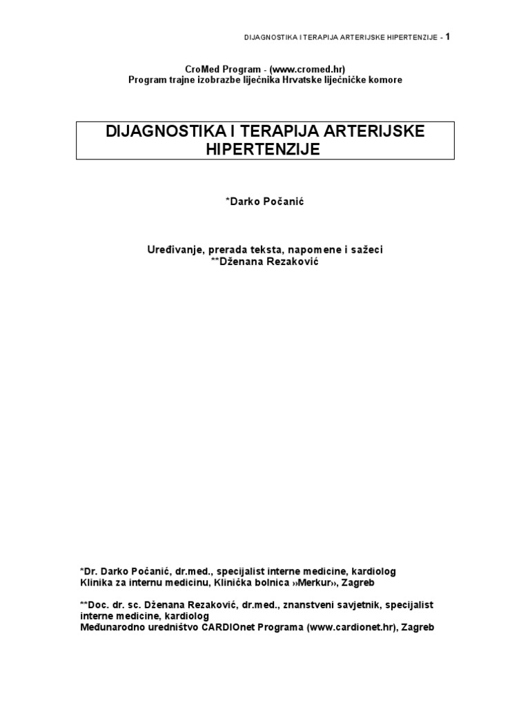 MSD priručnik dijagnostike i terapije: Hipertenzivne krize