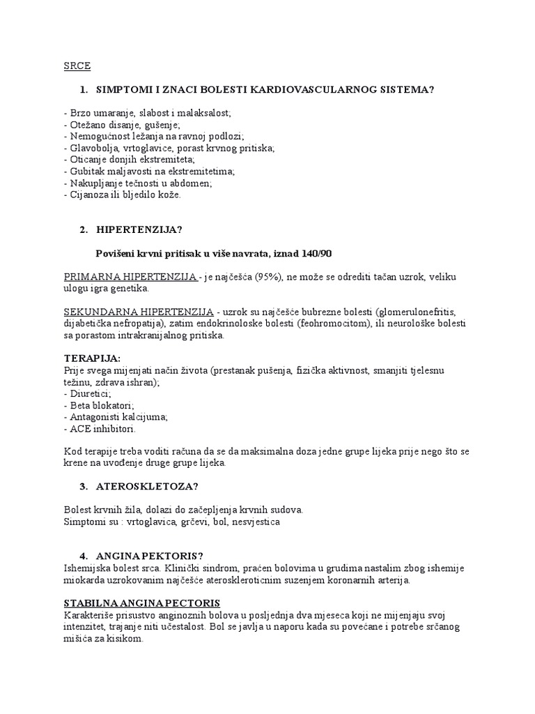Liječenje hipertenzije i ishemijske bolesti ,Škola za zdravlje pacijenata s hipertenzijom