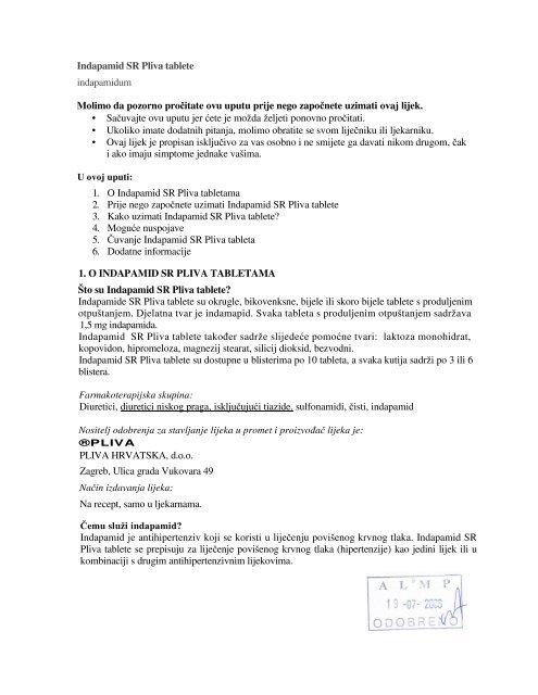 lijekove za povišeni krvni tlak, bez laktoze)