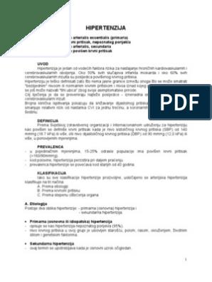 rizici i hipertenzija klasifikacija)