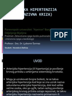 standardna hipertenzije u bolnici)