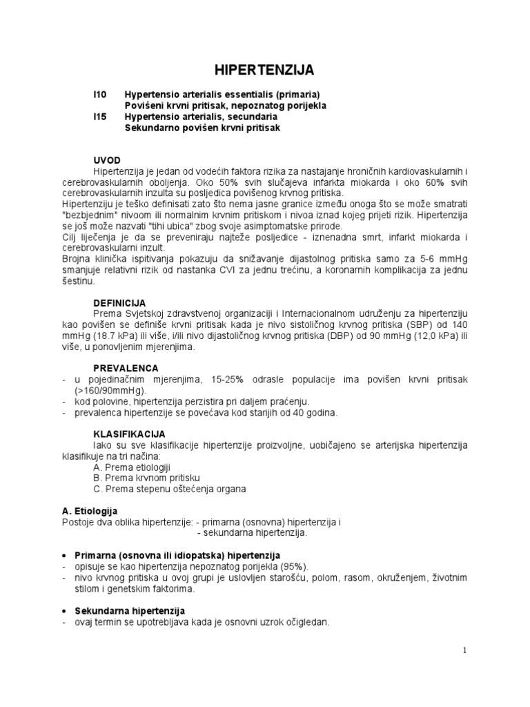 uzročno liječenje za hipertenziju)